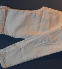 Bele hlače Bershka, high waist