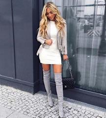 Sivi overknee škornji