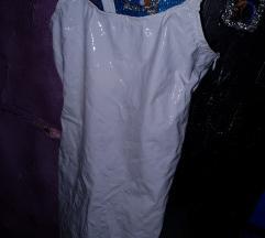Bela latex obleka