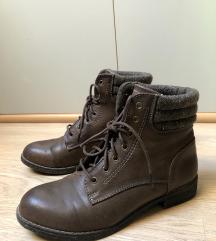 Nizki rjavi zimski škornji, AKCIJA 5€!