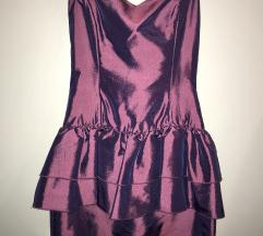 Vijolična peplum obleka