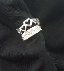 2x srebrn prstan ❤️