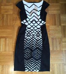 Orsay nova črno bela obleka XS
