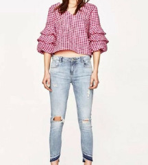 Zara NOVE jeans ripped hlače