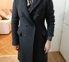 Zara siv woman volnen plasc