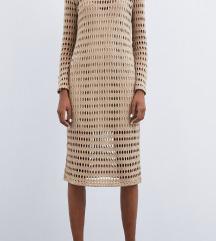 Zara pletena obleka