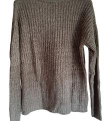 Rjav pleten pulover