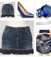 Jeans mini krilo