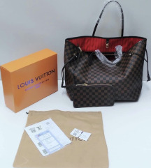 LOUIS VUITTON NEVERFULL 100% USNJE