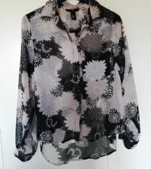 Bluza high low z vzorci