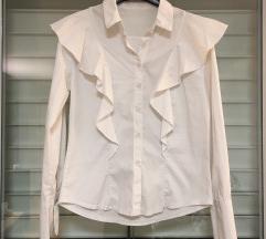 Bela srajčka z volančki XS