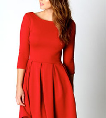 Rdeča skater oblekca M
