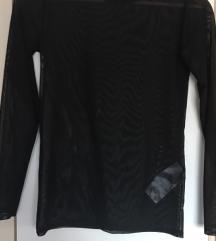 Prosojna crna majica