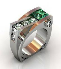 ZNIŽANO Poseben prstan iz titana