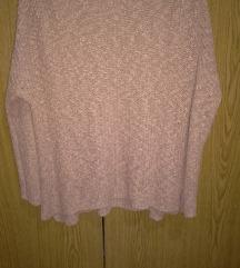 Roza pleten pulover