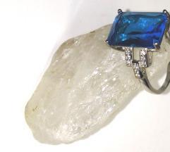 Srebrni prstan-pravo srebro+cirkon,vel.17