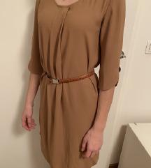 Obleka MARELLA z usnjenim paskom