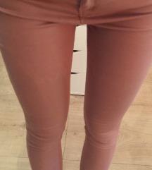 Roza/nude hlače