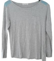 Siva majica z dolgimi rokavi