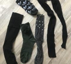 Komplet različnih nogavic