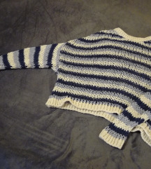Pleten pulover, oversized