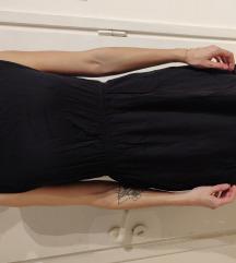 Črna poletna oblekica z odprtim hrbtom