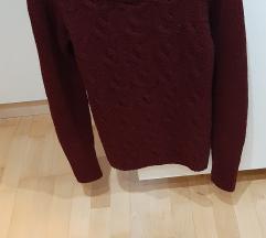 Bordo rdeč XS pulover