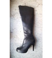 BUFFALO usnjeni črni škornji