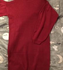 Dolgi roza pulover
