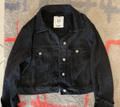 Kratka jeans jakna crna