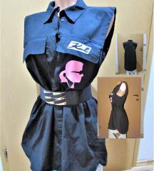 črna srajčna tunika - oblekica