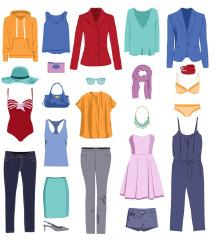 ženska oblačila 1 in 2 eur