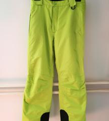 Florescentne rumene smučarske hlače