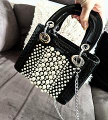 Lady Dior torbica s perlami replika