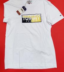 TOMMY JEANS moška bela majica velikosti M