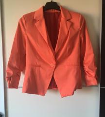 Marelično oranžen blazer S