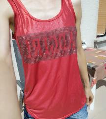 Rdeča metalik majica