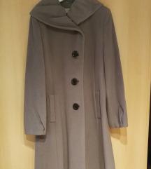 Zimski plašč sive barve