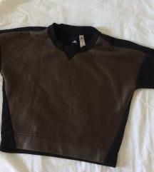adidas streetwear pulover, umetno usnje