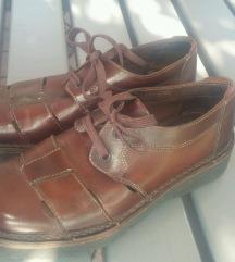Usnjeni moški čevlji 39/40 - RJAVI