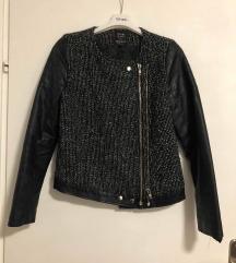Črno-siva jakna