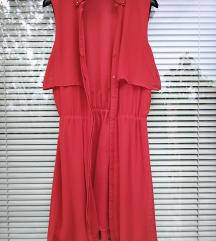 H&M št. 36 / 38 rdeča obleka