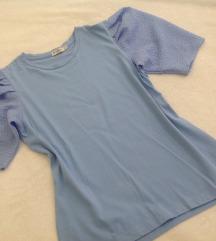 Svetlo modra majica z balon rokavi S/M/L
