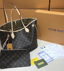 LOUIS VUITTON NEVERFULL MONOGRAM PRAVO USNJE