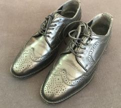 Črni USNJENI oxford nizki čevlji