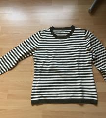 Ženski pulover kot novi olivno bele barve