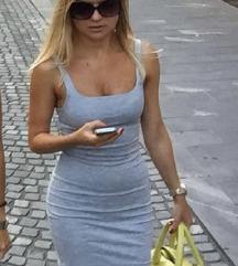 Siva obleka Zara, S