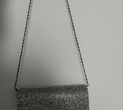 Črna torbica z bleščicami