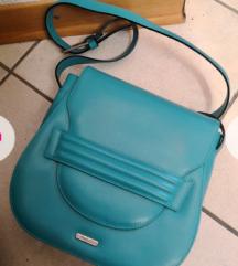Usnjena turkizna torbica