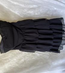 Črna obleka brez naramnic